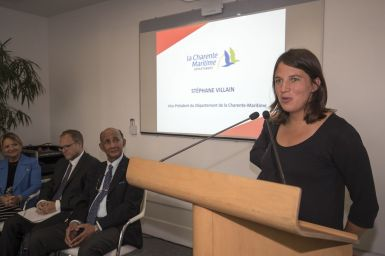 Conférence de presse. Charline Picon