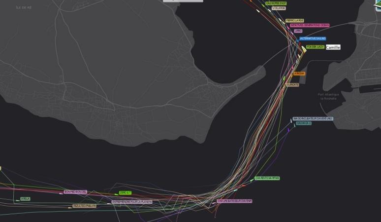 Extrait de la cartographie permettant de suivre la course en temps réel